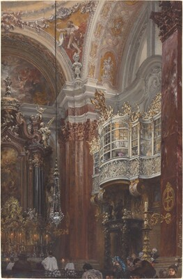 The Interior of the Jacobskirche at Innsbruck