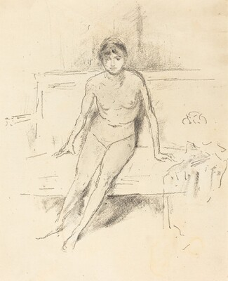 Nude Figure Seated