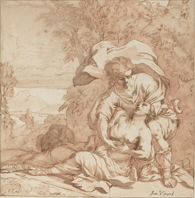 Procris and Cephalus (?)