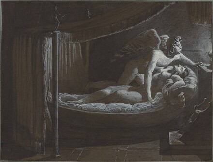 Cupid with Psyche Extinguishing the Lamp