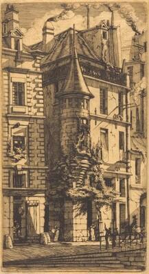 Tourelle de la Rue de la Tixéranderie, Paris (House with a Turret, Weavers' Street, Paris)
