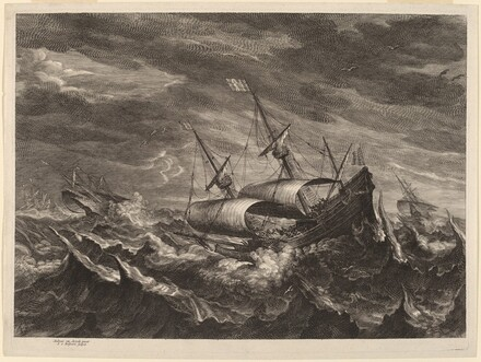 Sailing Boats in a Tempest