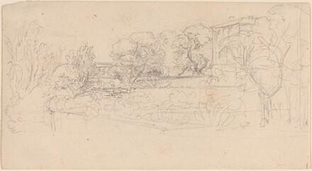 A Terraced Garden by a Villa
