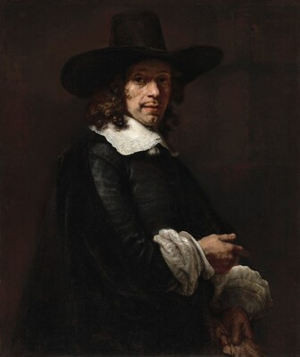Portrait of a Gentleman with a Tall Hat an