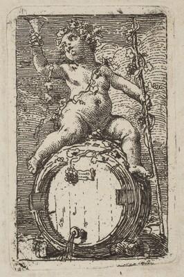 The Infant Bacchus Astride a Wine Barrel