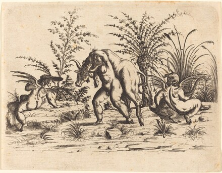 Three Putti with a Dead Bull