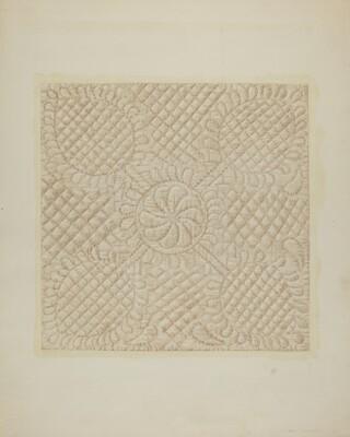 Detail of Quilt - Tulip Pattern
