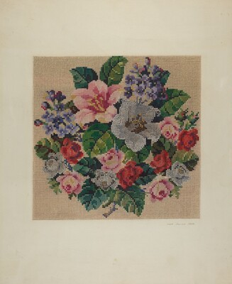 Gros Point Needlework - Flowers