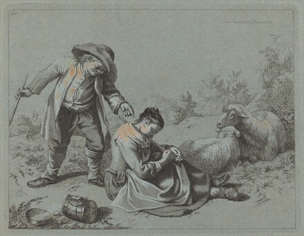 Peasant Teasing a Sleeping Girl with a Twig