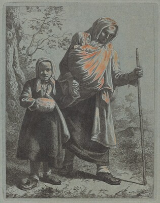 Peasant Woman with Baby and Little Girl