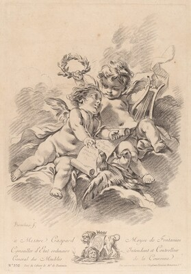 Allegory of Music with Two Cherubs and Doves (100)