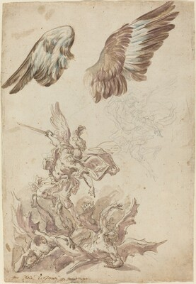 Studies for Saint Michael Defeating the Rebel Angels