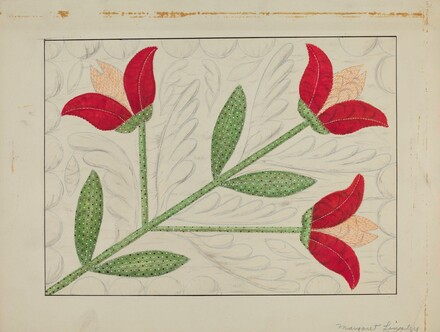 Quilt - Appliqued in Bellflower Design