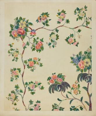Appliqued Coverlet - Tree Design