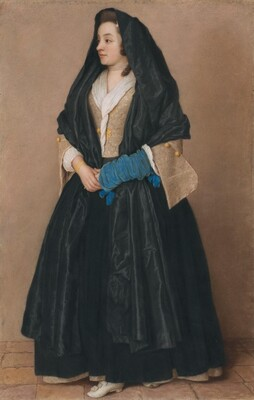 An Elegant Young Woman in Maltese Costume
