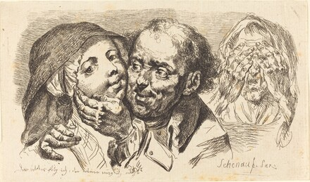 Young Woman Embraced by an Older Man