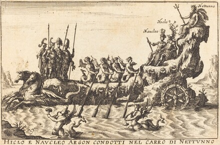 Hiclo e Naucleo Argon condotti nel carro di Nettuno