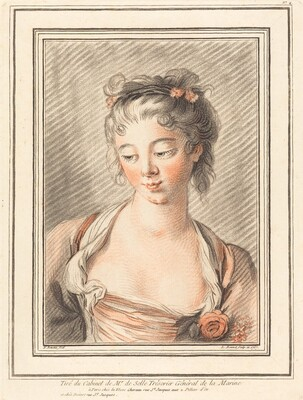 Bust of a Young Woman Looking Down