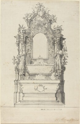 Rococo Altar with a Reliquary Tomb