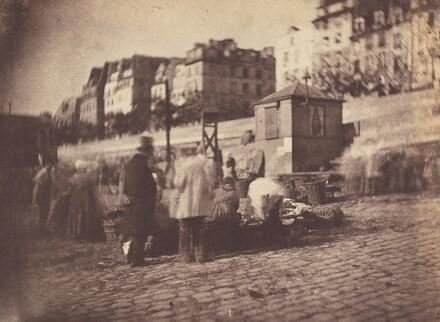 Scene de Marche au Port de l'Hotel de Ville, Paris (Market Scene at the Port of the Hotel de Ville, Paris)