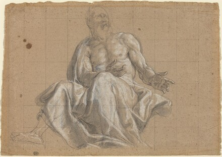An Elderly Man in Classical Drapery