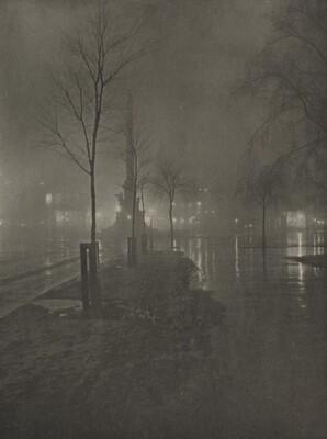Wet Night, Columbus Circle, New York