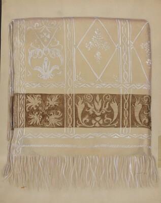 Linen Towel - Brown Border