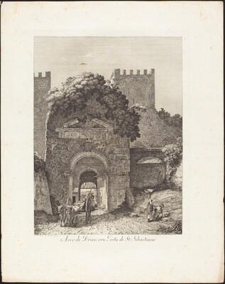 Arco di Druso, ora porta di San Sebastiano