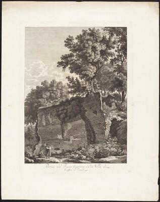 Rovine del Piano superiore della Villa di Cassio a Tivoli