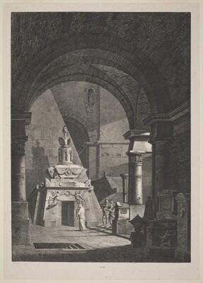 Interior of an Ancient Roman Sepulchre