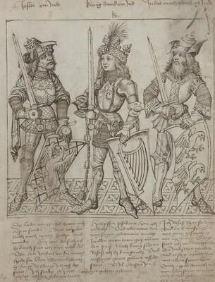Joshua, King David and Judas Maccabeus