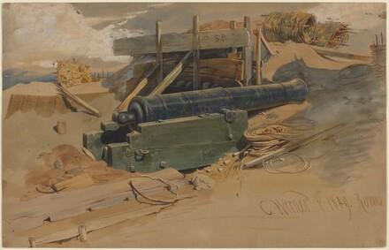 Cannon by a Bulwark