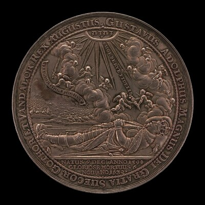 Death of Gustavus II Adolphus, 1594-1632, King of Sweden 1611 [obverse]