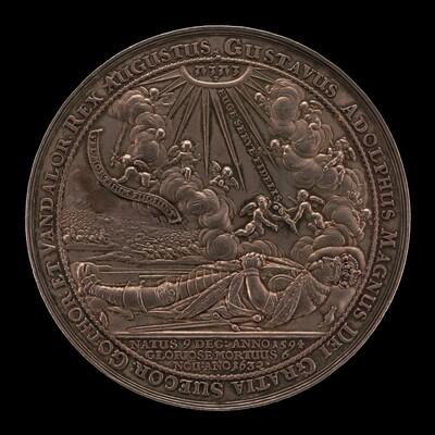 Death of Gustavus II Adolphus, 1594-1632, King of Sweden 1611 [obverse]