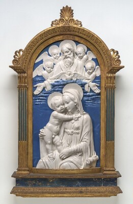 Madonna and Child with God the Father and Cherubim