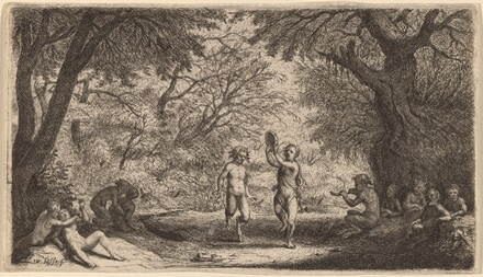 Bacchanal with a Dancing Couple in the Center