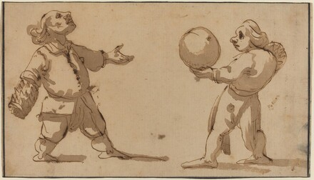 A Caricature with Ball Players