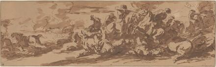 Cavalry Battle near a River