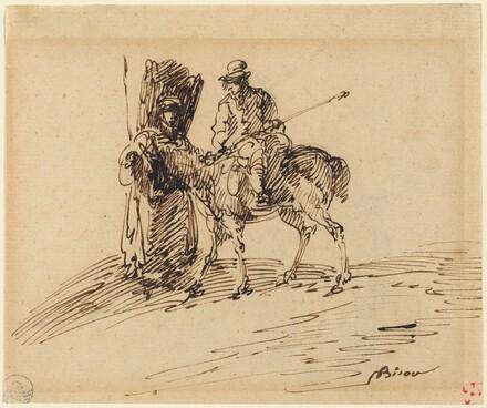 Horseman with Peasant