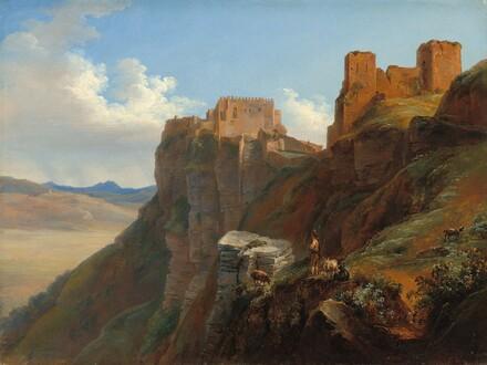View of the Castello di San Giuliano, near Trapani, Sicily