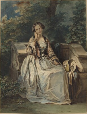 Woman Seated in a Bower