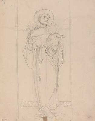 Standing Saint holding the Christ Child