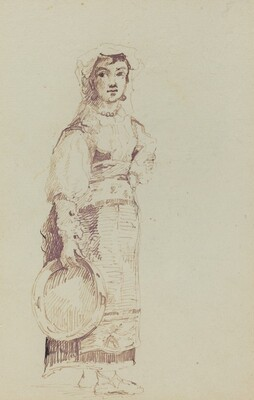 Woman with a Tambourine (verso)