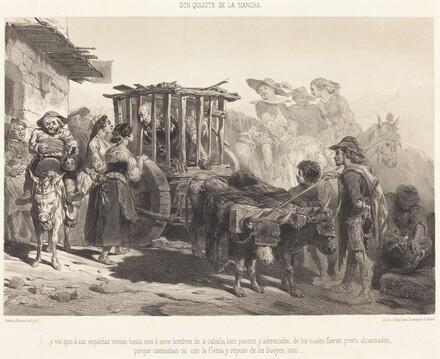 ...y vio que à sus espaldas venian hasta seis ó siete hombres...