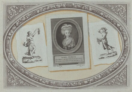 Trompe l'Oeil: Prints with Maria Teresa, Using Original Copperplates