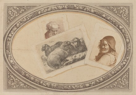 Trompe l'Oeil: Prints with Men and Sheep, Using Original Copperplates