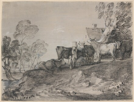 Landscape with Cattle by a Cottage