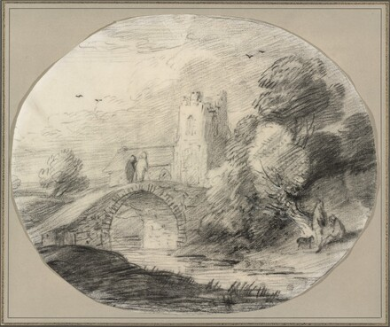 River Landscape with a Bridge and a Church