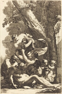 Drunken Silenus Supported by Two Fauns