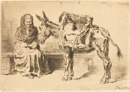Cacoletière Assise (Seated Woman and Ass)